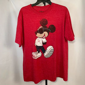 Disney Mickey Mouse V Neck Tshirt, XL